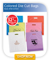 Colored Die Cut Bags - 32¢