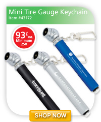 Mini Tire Gauge Keychain - 93¢