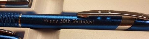 Engraved Pen Birthday Message