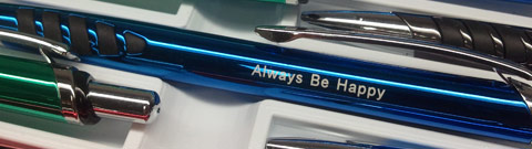 Engraved Pen with Always Be Happy imprint