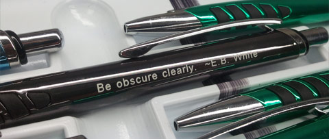 """Be obscure clearly"""