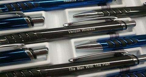 Engraved pen for business