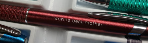 """Engraved Pen with imprint: """"world best mother"""""""