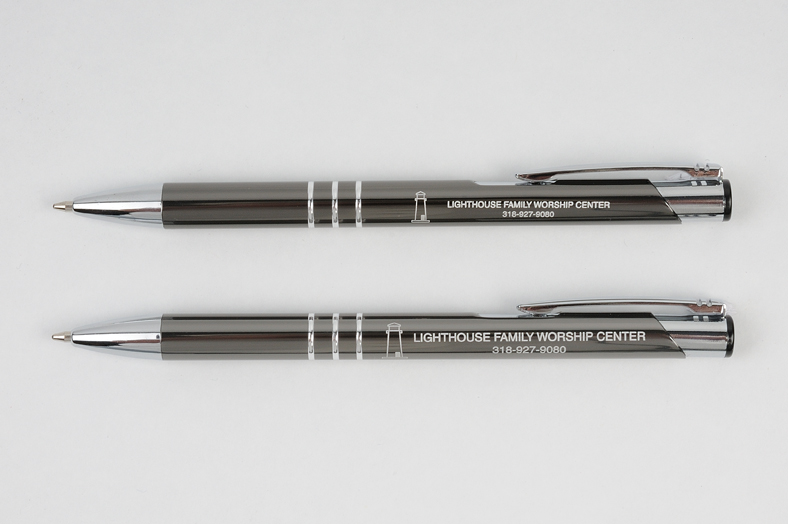 Delane pens - with and without super-sized engraving