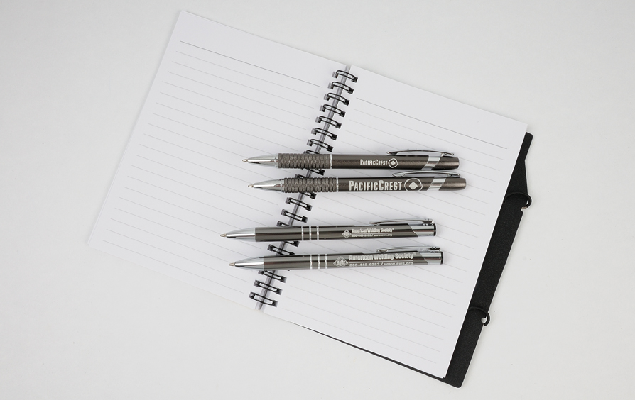 Promotional pens: with and without super-size engraving