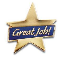 employee morale boosters - great job pins