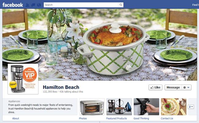 Hamilton Beach Facebook Cover / Timeline