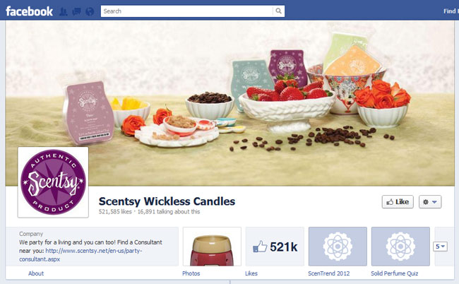 Scentsy Facebook Cover / Timeline