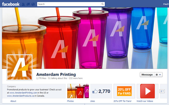 Amsterdam Printing Facebook Cover / Timeline