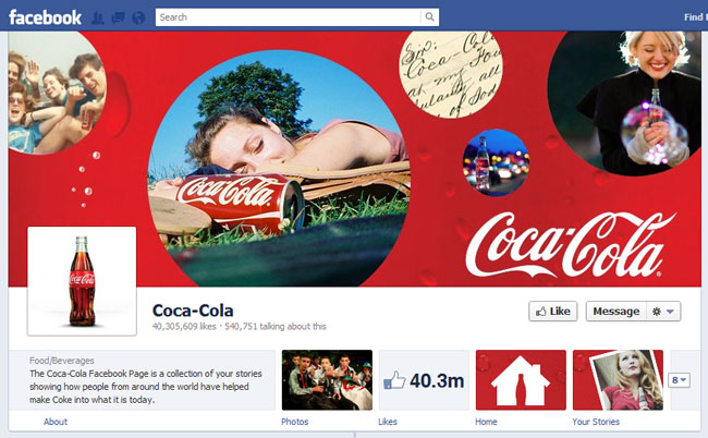 Coca-Cola Facebook Cover / Timeline
