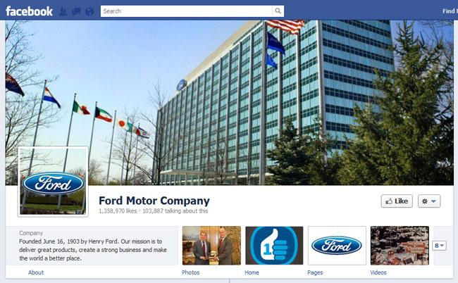 Ford Facebook Cover / Timeline