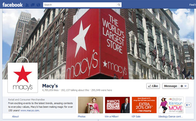 Macy's Facebook Timeline / Cover