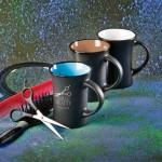 Mugs with Beauty Salon's imprint