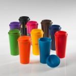 Colorful reusable coffee mugs/tumblers