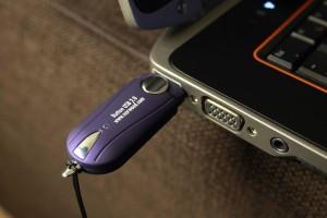 Custom USB Button USB Drive, blue