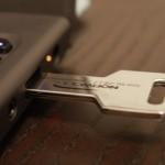 Custom USB Key Drive, inserted