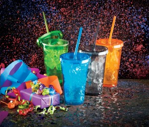 Birthday Party Gifts and Colorful Tumblers