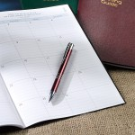 Pen on the Monthly Planner