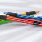 Red, Blue, Green, Orange ballpoint pens