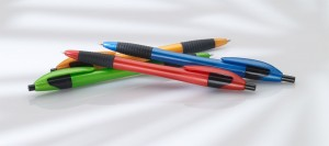 Red, Blue, Green, Orange ballpoint pens