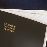 Black Monthly Schedule Planner