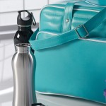 Fitness Water Bottle with a Vintage Bag