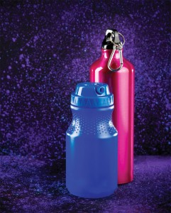 Elementary School Blue & Pink Water Bottles