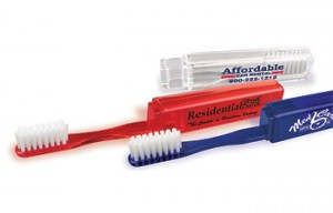 promotional traveler's toothbrush