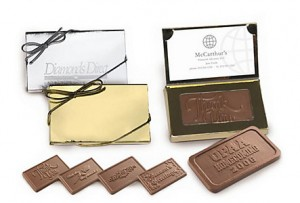chcolate business card holder