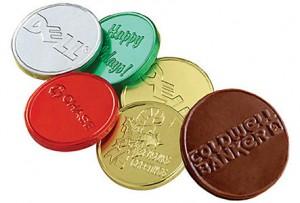 custom chocolate belgian coins