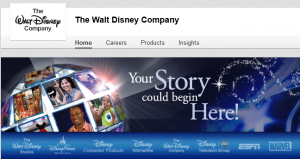 walt disney linked in company image