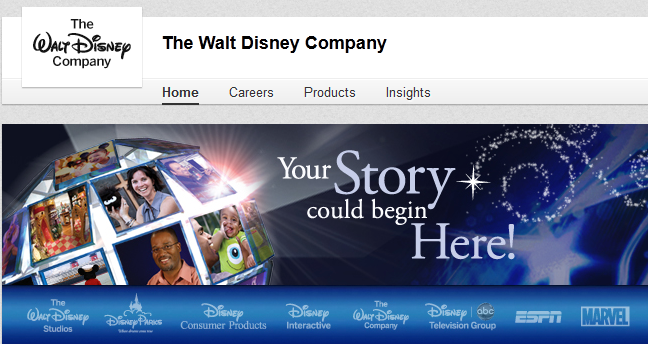 walt disney linked in company image