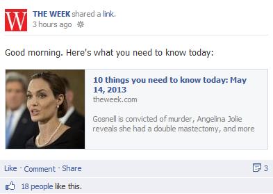 The Week status update