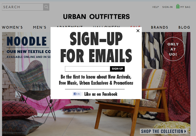 urban outfitters email