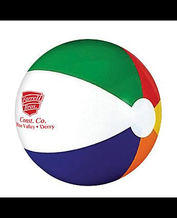 six color beach ball