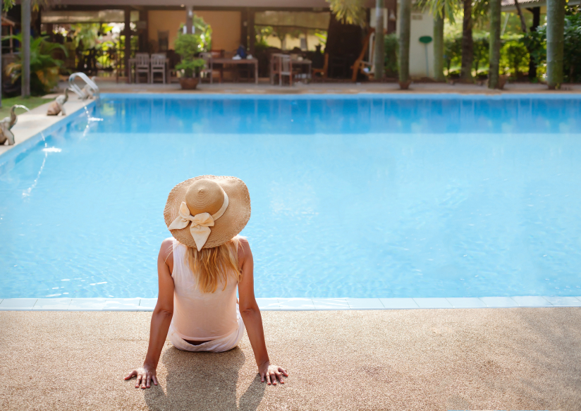 enjoy vacations in luxury hotel with swimming pool