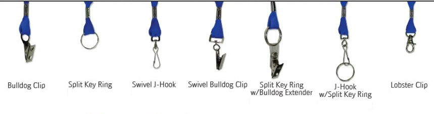 lanyard clip options for keys and more