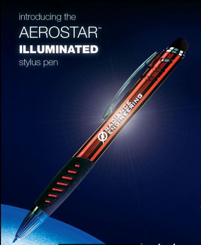 Aerostar Illuminated Stylus Pen