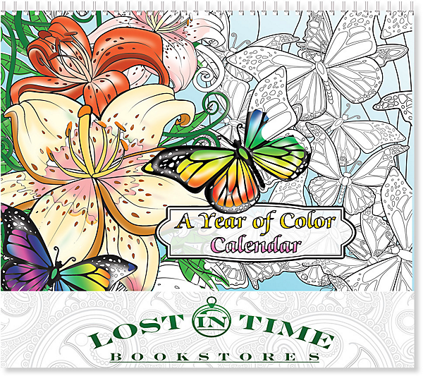 year of coloring wall calendar