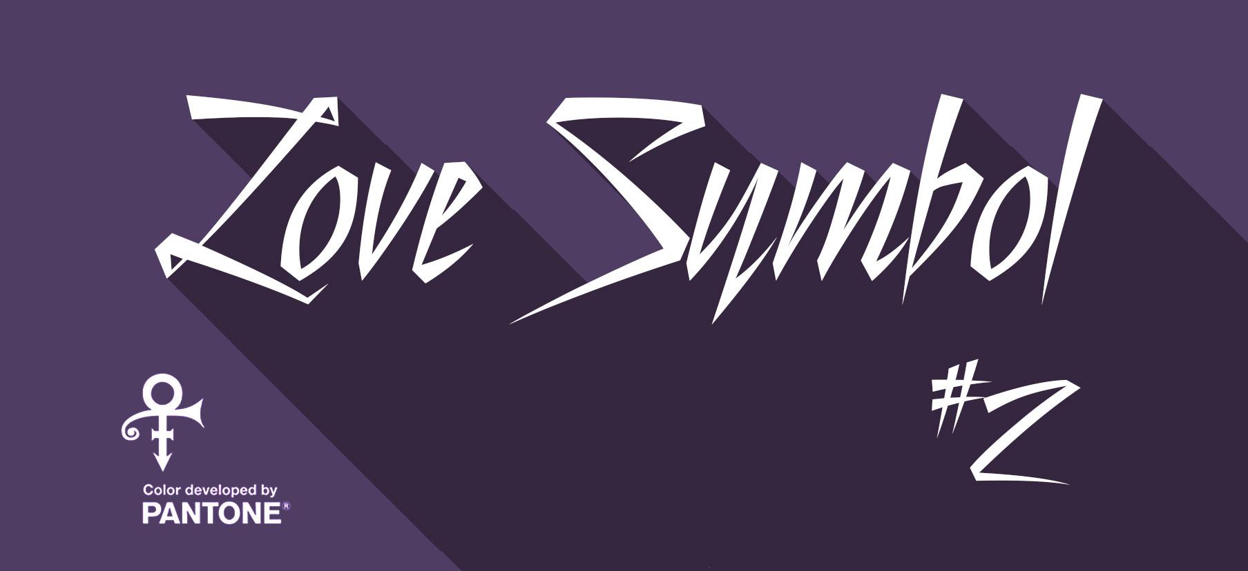 prince love symbol number 2 pantone color