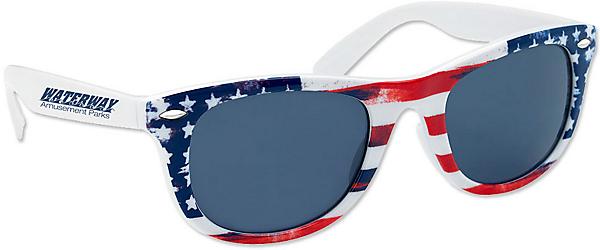 patriotic sunglasses with logo